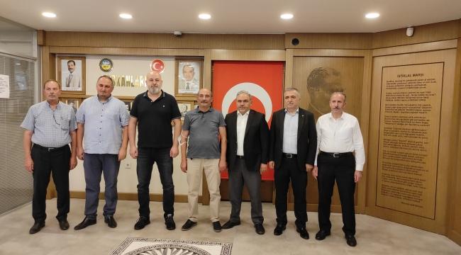 STK Başkanlarımız, Ali Çelik, İlhan Köten, Ali Demir, Turan Saldırıcıer 'den Başkanımıza Hayırlı Olsun Ziyareti.