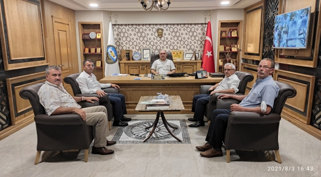 3 Nolu Tokat Halk Otobüsleri Koop. Başkanı Rafet Kapusuz'dan Başkanımıza Hayırlı Olsun Ziyareti