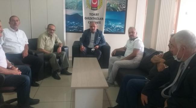 Yönetim Kurulumuz Tokat Gazeteciler Cemiyeti Başkanı Cemal İncesoyluer'i Ziyaret Etmiştir.